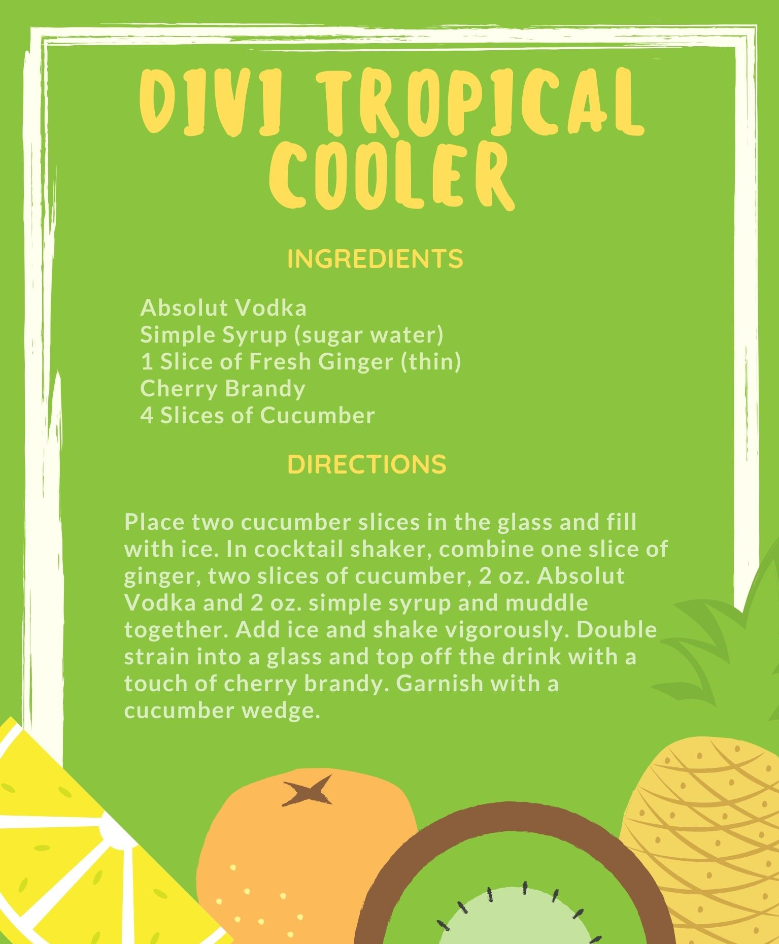 Divi Tropical Cooler