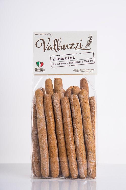 VALBUZZI - grissini I Rustici al grano saraceno e farro