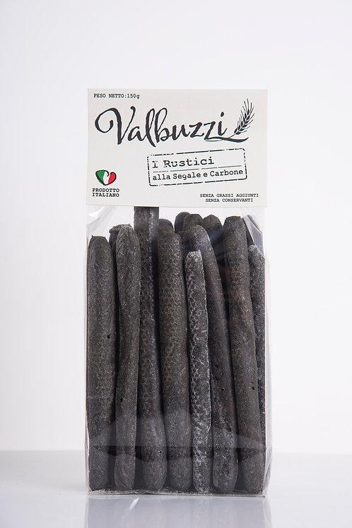 VALBUZZI - grissini I Rustici alla segale e carbone