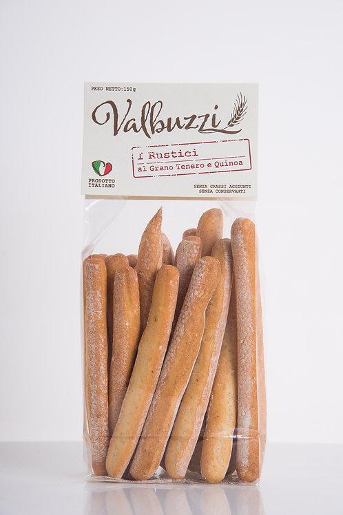 VALBUZZI - grissini I Rustici al grano tenero e quinoa