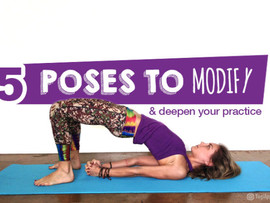 5 Poses to Modify & Deepen Your Practice: Featured in Yogi Approved!