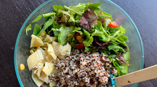 Lemony Spring Greens and Quinoa Salad