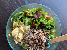 Lemony Spring Greens and Quinoa Salad