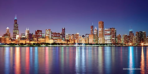 chicago-skyline-sunset-night-reflections