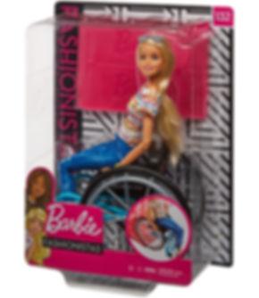 ברבי מתניידת בכיסא גלגלים