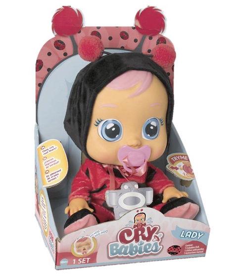 """קריי בייביז - בובת תינוק בוכה עם דמעות """"אמיתיות""""-ליידי"""