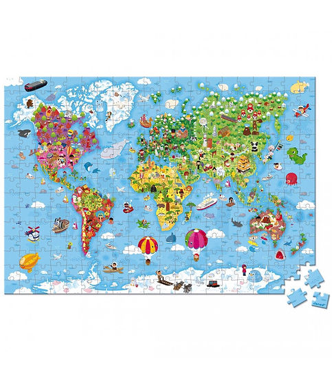 פאזל ענק 300 חלקים - מפת העולם