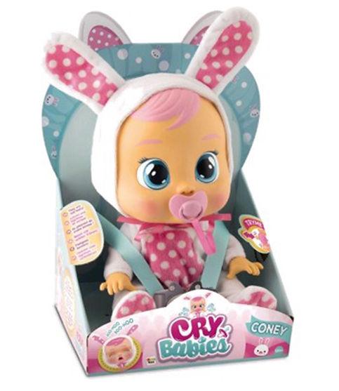 """קריי בייביז - בובת תינוק בוכה עם דמעות """"אמיתיות""""-קוני"""