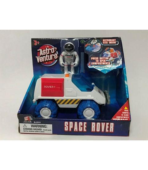 רכב חלל עם אסטרונאוט כחול/אדום