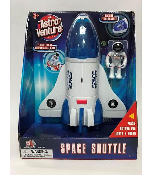 מעבורת חלל עם אסטרטנאוט, אור וקולות כחול/אדום