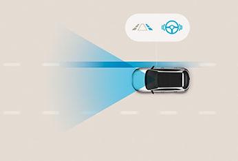 מערכת אקטיבית הכוללת תיקון הגה לסיוע בשמירה על נתיב הנסיעה (LKA)