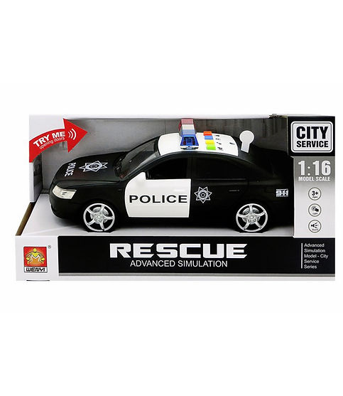 """מכונית משטרה אלקטרונית 25 ס""""מ"""