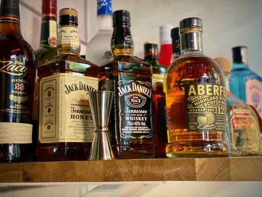 Spirits rum whisky gin jack daniel's