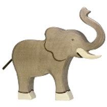 "Holztiger ""Elefant"" Rüssel hoch"