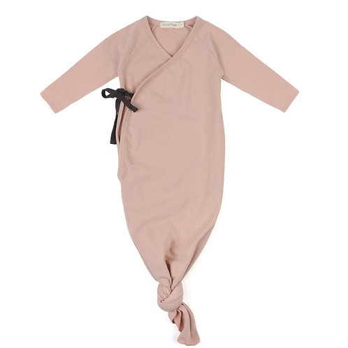 Phil&Phae Knotted Baby Gown blush