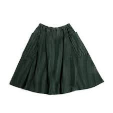 Monkind Emerald Stripe Pocket Skirt