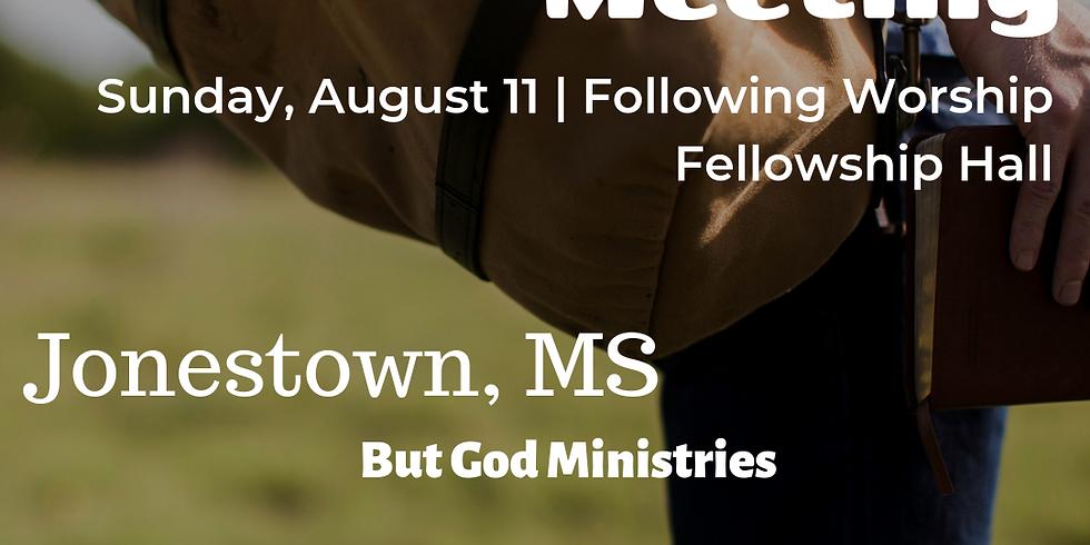 Jonestown Information Meeting