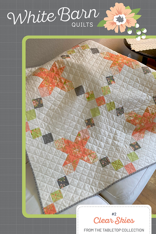 Clear Skies Table Square PDF Pattern