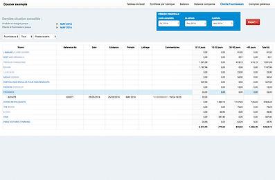Consultez en ligne vos comptes clients et fournisseurs