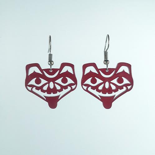 Acrylic Bear Earring