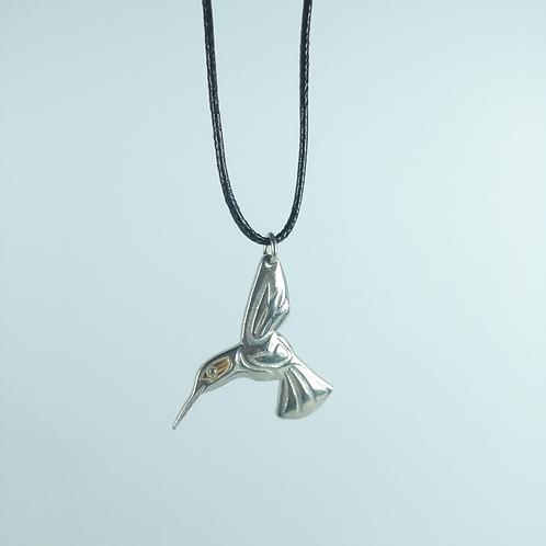 Silver Pewter HummingBird
