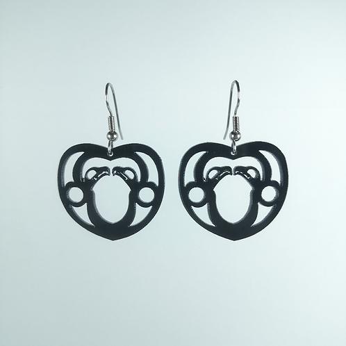 Acrylic Eagle Heart Earring