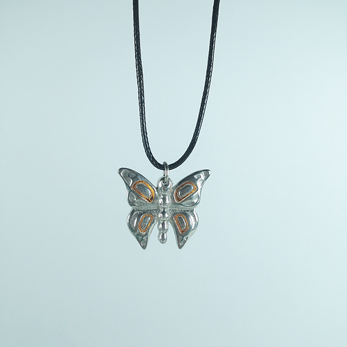 Silver Pewter Butterfly