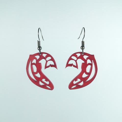 Acrylic Salmon Earrings