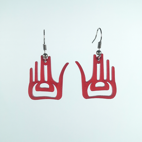 AcrylicHand Peace Earring