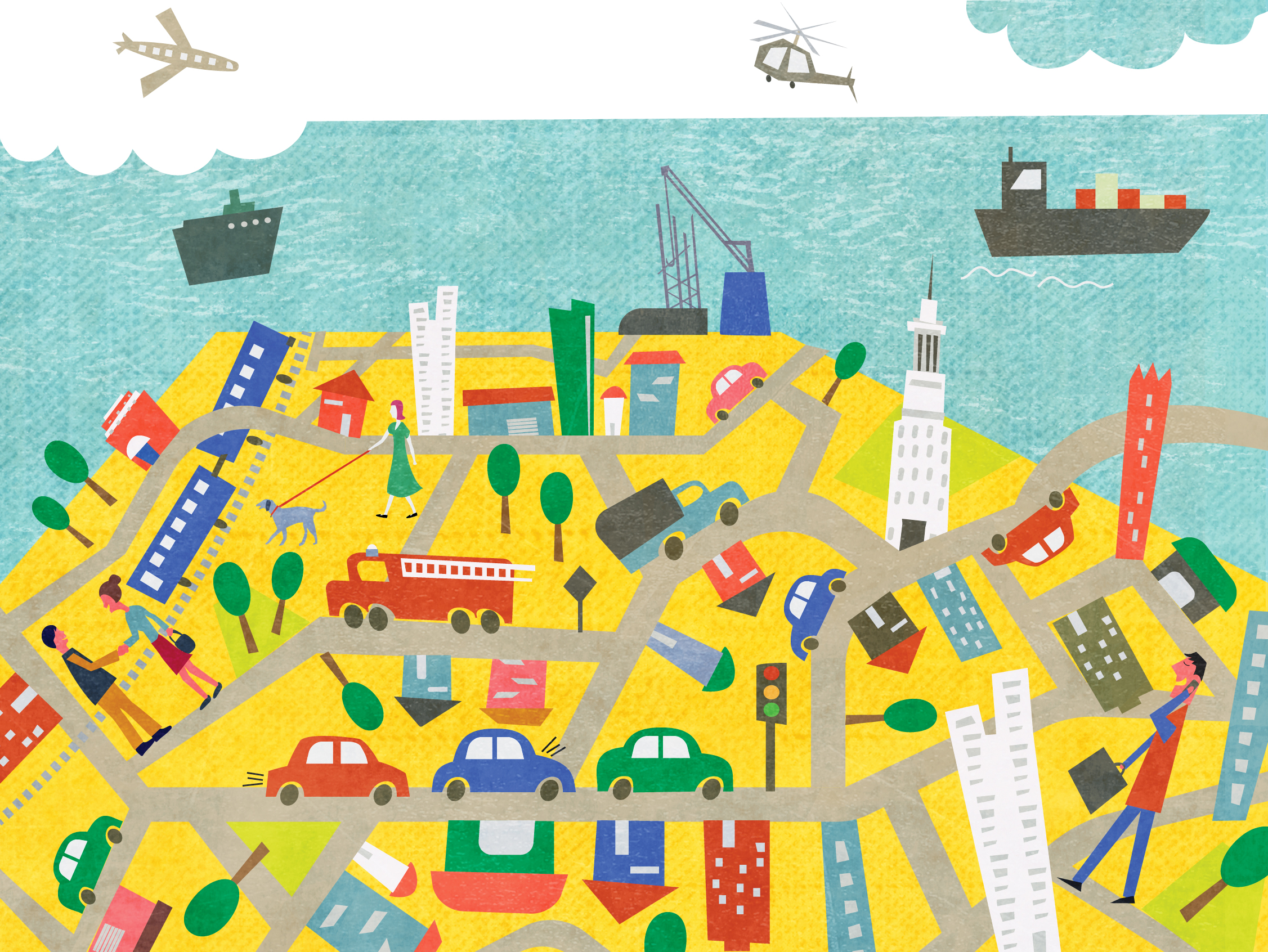 mapa, Andrea Ebert, Ilustração