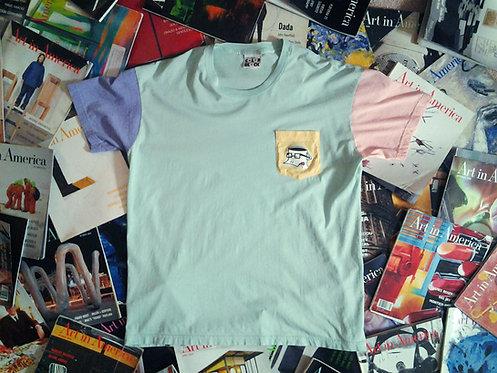 CoffeeHeadDuck Color Block Shirt - Mint