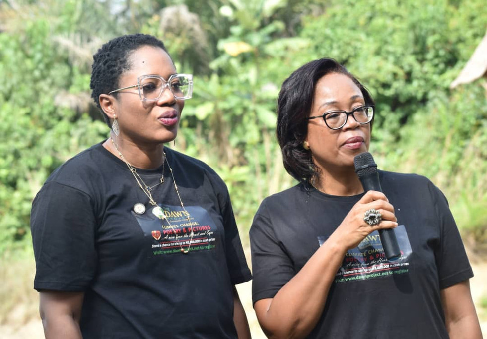 Dr. Pamela with GM, LASEPA, Dr. Dolapo Fasawe announcingthe partnership  of The dawn Project with LASEPA