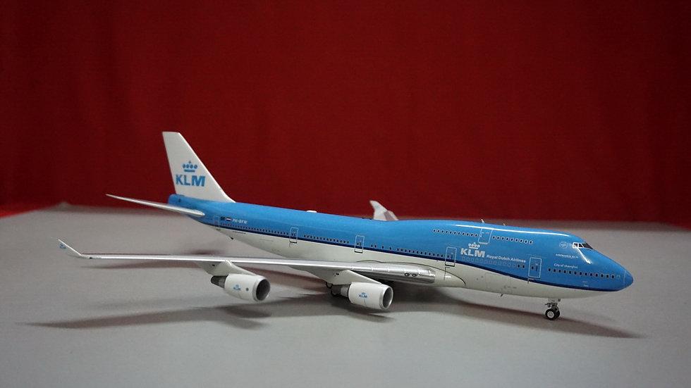 1:200 B747-400 KLM Royal Dutch Airlines New Livery PH-BFW