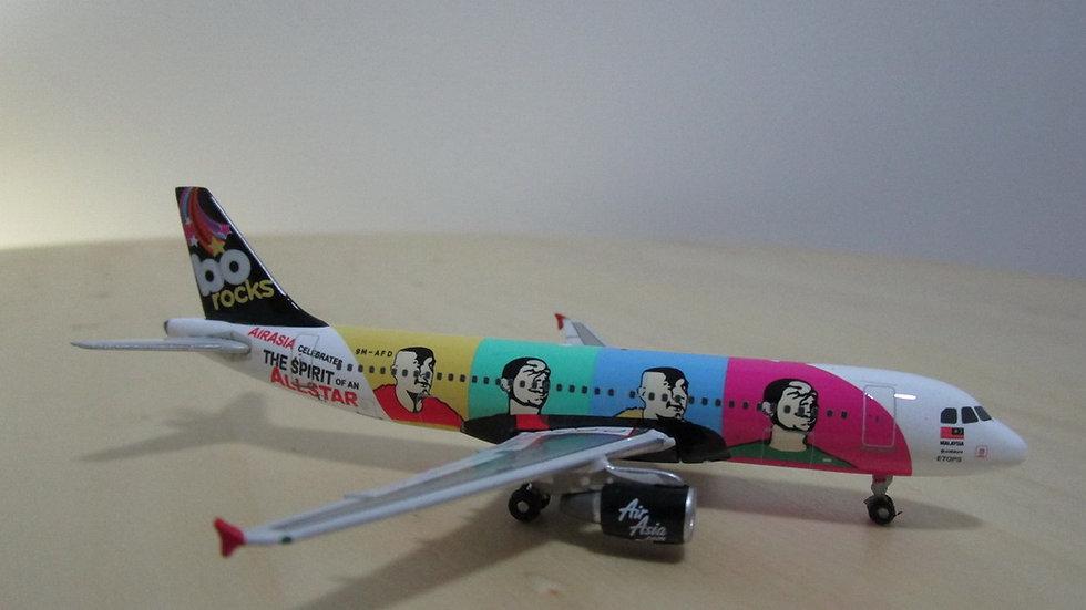 1:400 A320-214 Air Asia Bo Rocks 9M-AFD