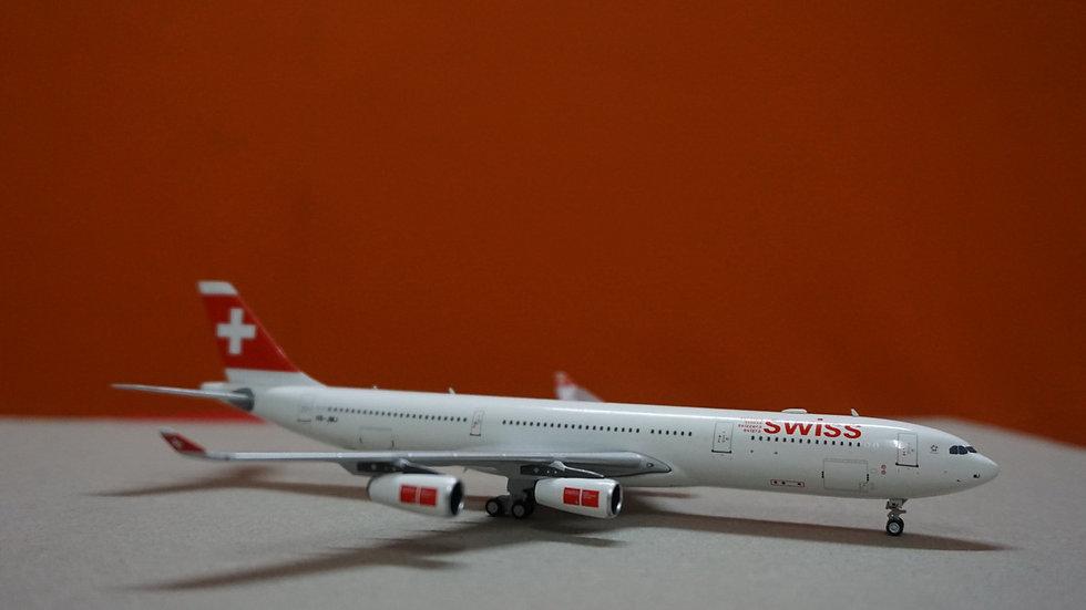 1:400 A340-300 Swissair 'Zug' Old Color HB-JMJ