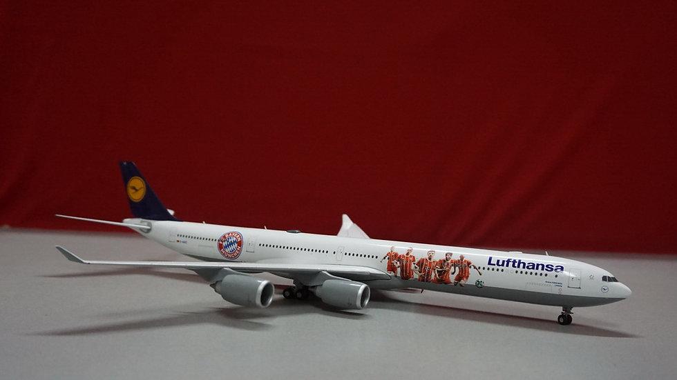 1:200 A340-600 Lufthansa FC Bayern Audi Summer Tour China 2017 D-AIHZ