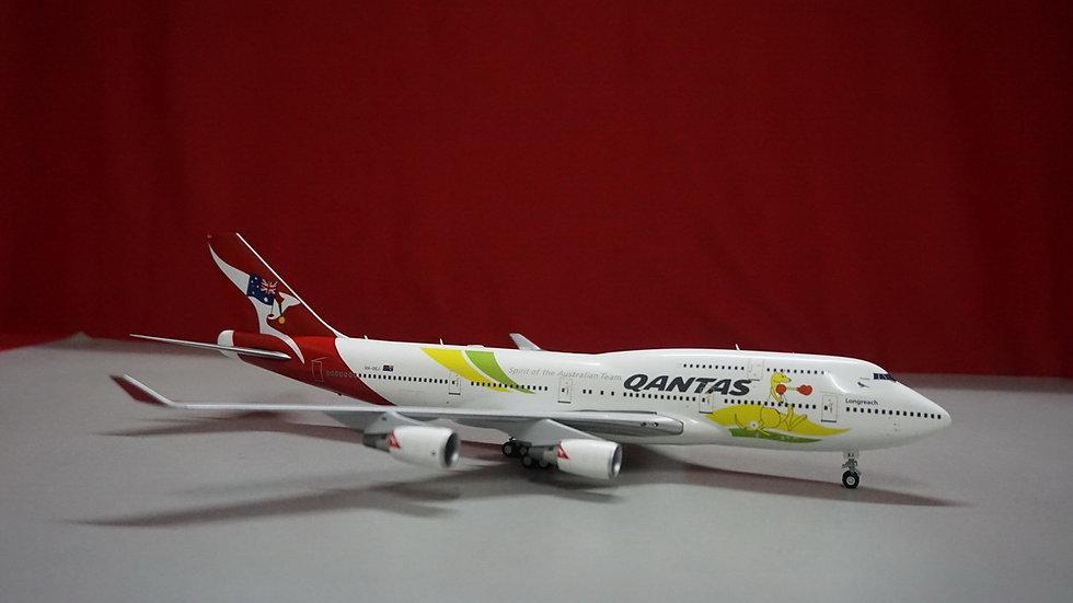 1:200 B747-400ERQantas Olympic 2016 VH-OEJ