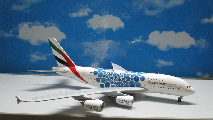 1:200 A380-800 Emirates Airlines 'Blue Expo 2020' A6-EDC
