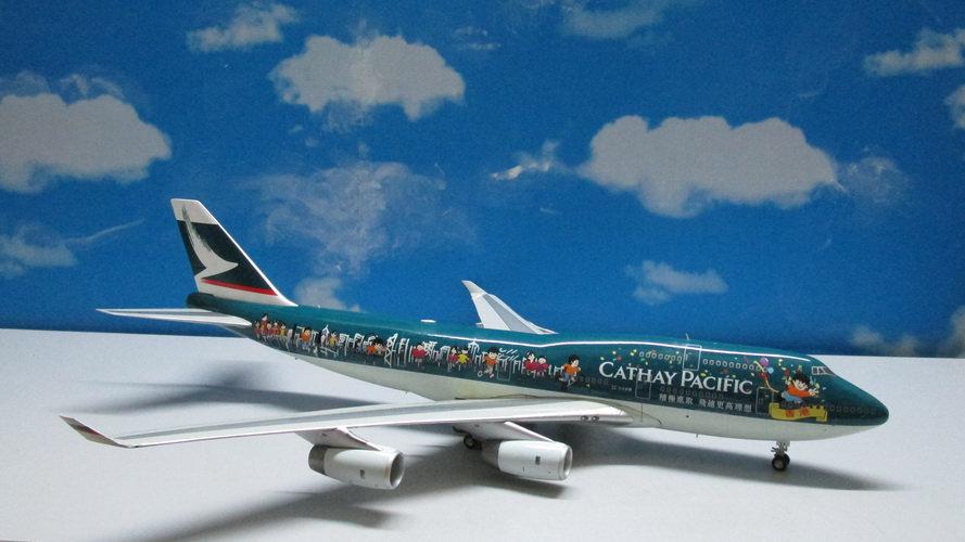 1:200 B747-467 Cathay Pacific 'Same Team Same Dream' B-HOX