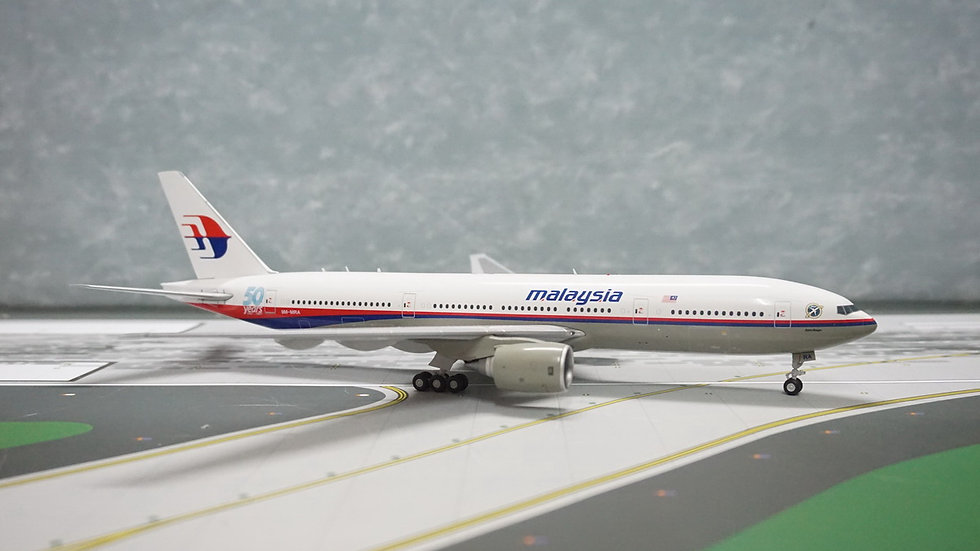1:200 B777-200ER MAS Malaysia Airlines 50th Anni with Super Ranger Logo 9M-MRA