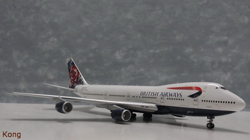 1:200 B747-200 British Airways Chelsea Rose Ltd 144pcs G-BDXK