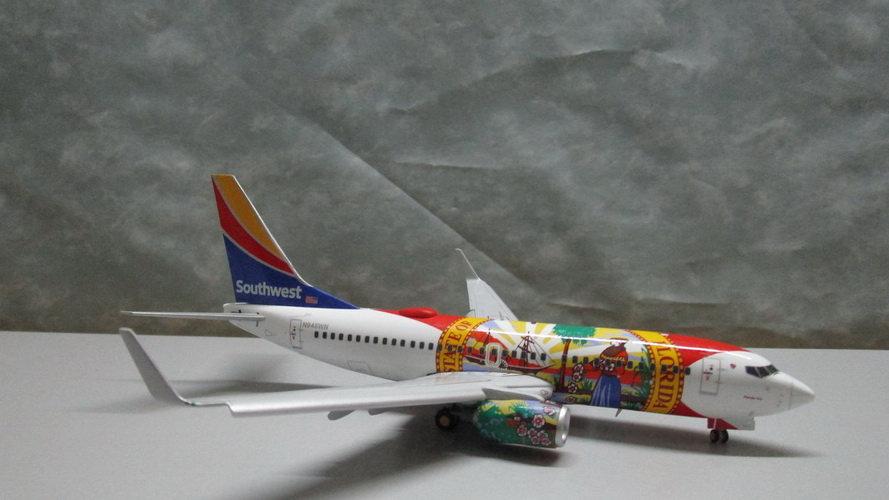 1:200 B737-700W Southwest Airlines 'Florida One' N945WN Flap Down