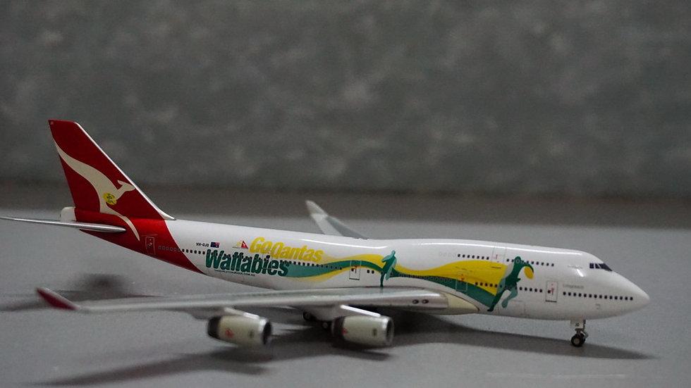 1:400 B747-400 Qantas NL 'Go Wallabies' VH-OJO