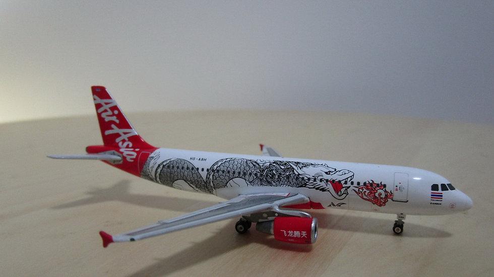 1:400 A320-216 Air Asia Thailand Dragon Livery HS-ABH