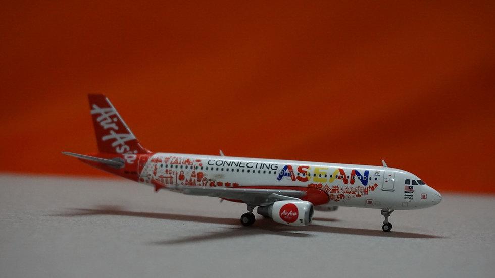 1:400 A320-200 Air Asia 'Connecting Asean' 9M-AHX