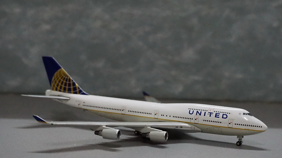 1:400 B747-400 United 'Post Merger Livery' N128UA