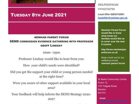 Newham Parent Forum SEND Commissioning event