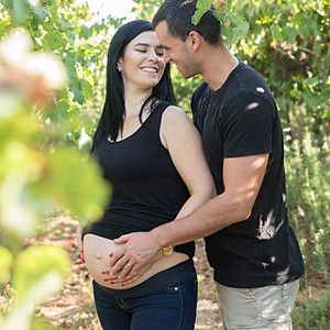 הילה ואופק בצילומי הריון