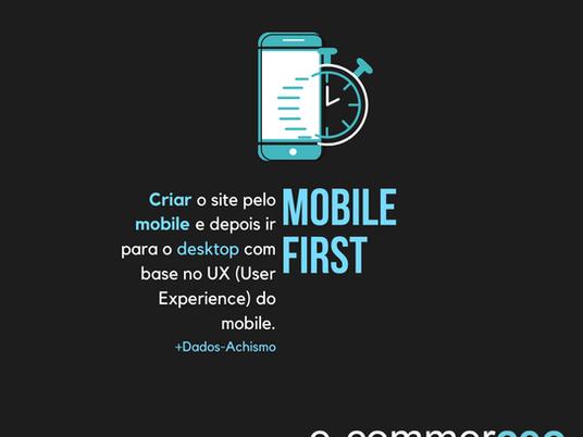 Mobile first  e o M-commerce