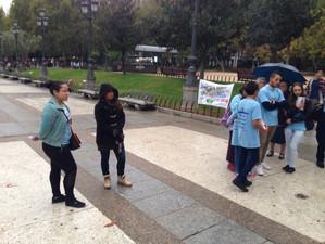 Evangelismo en Plaza de España 17/10/2015